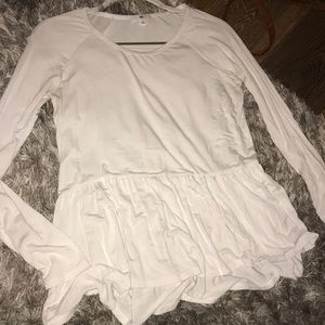 White long sleeve baby doll shirt